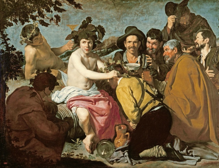 The Triumph of Bacchus, Velázquez, 1628, Museo del Prado, Madrid.