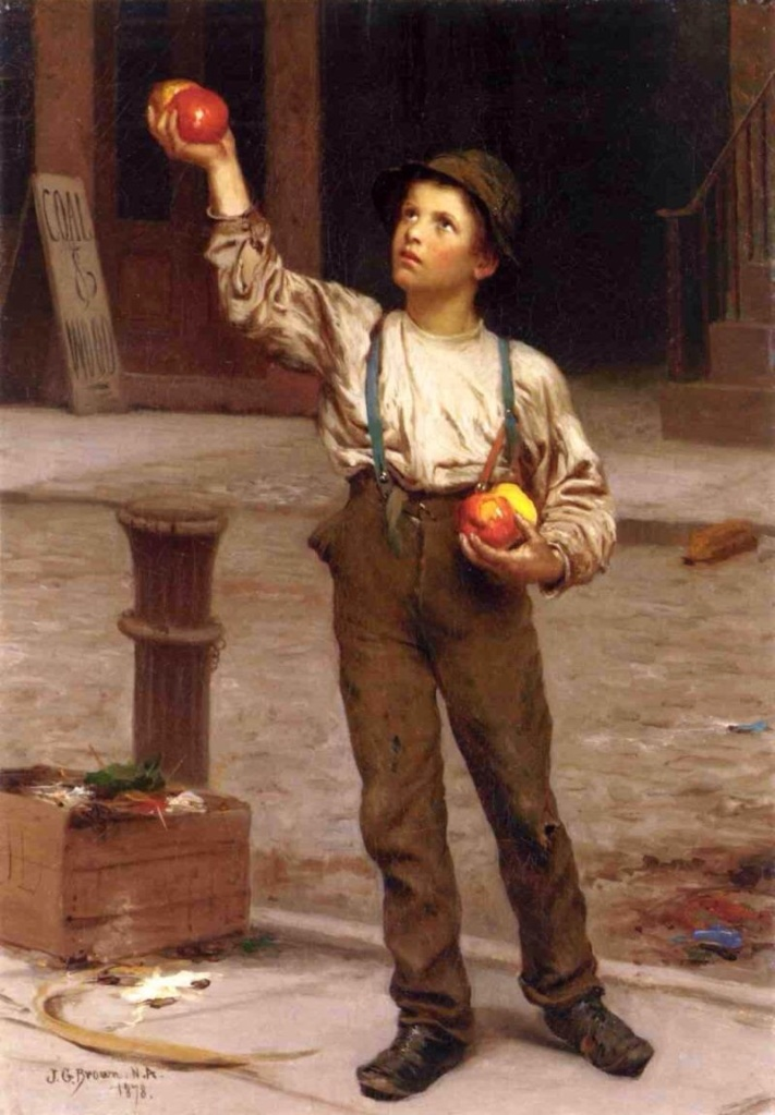 The Young Apple Salesman by Brown, John George