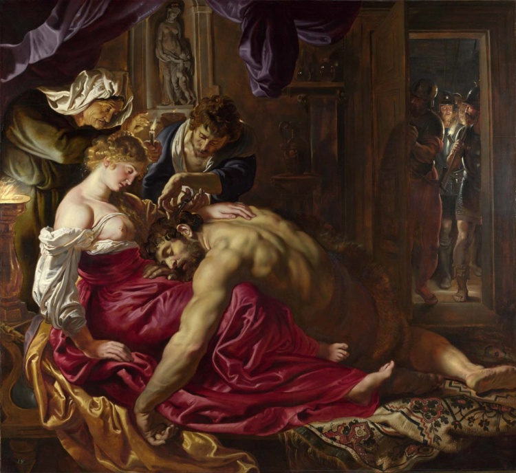 Samson and Delilhah, 1609, by Peter Paul Rubens. National Gallery