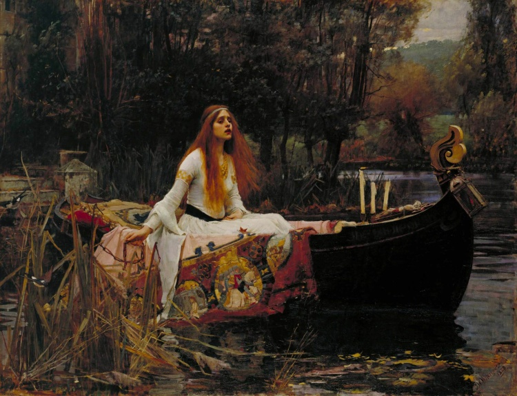 The Lady of Shallot, 1888, by John William Waterhouse, Tate Gallery.