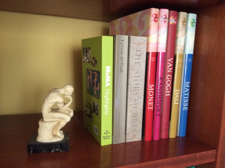 My little version of THE THINKER by Rodin. My living room.