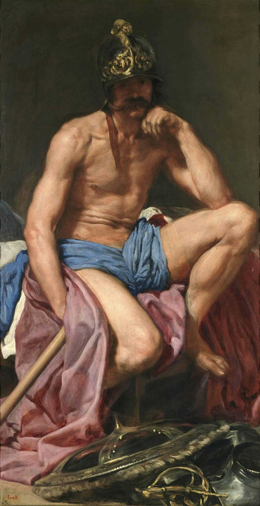 Mars, God of War, 1640, by Velázquez. Museo del Prado.