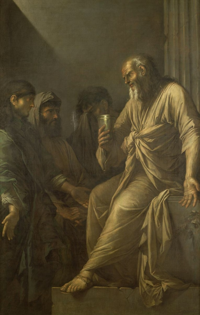The Death of Socrates. Rosa, Salvator.