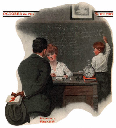 Knowledge Is Power by Rockwell, Norman