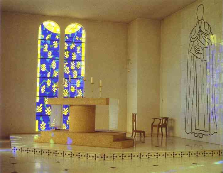 Interior of the Chapel of the Rosary in Vince. 1950.