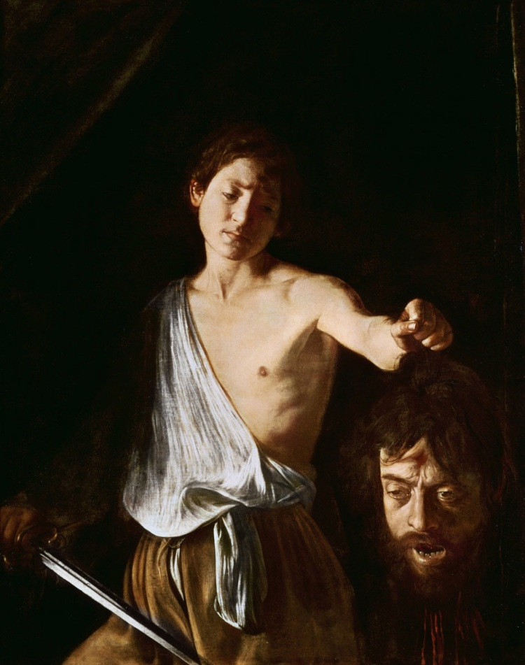 David with Head of Goliath by Caravaggio, 1610