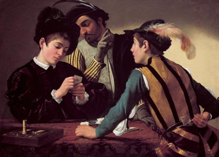 Caravaggio's Cardsharps, 1596.