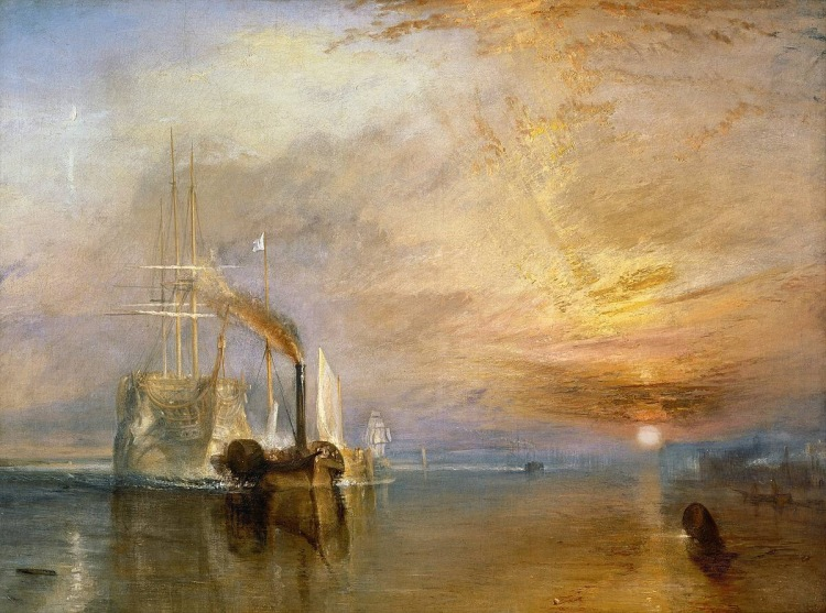 Turner's The Fighting Temeraire, 1838.