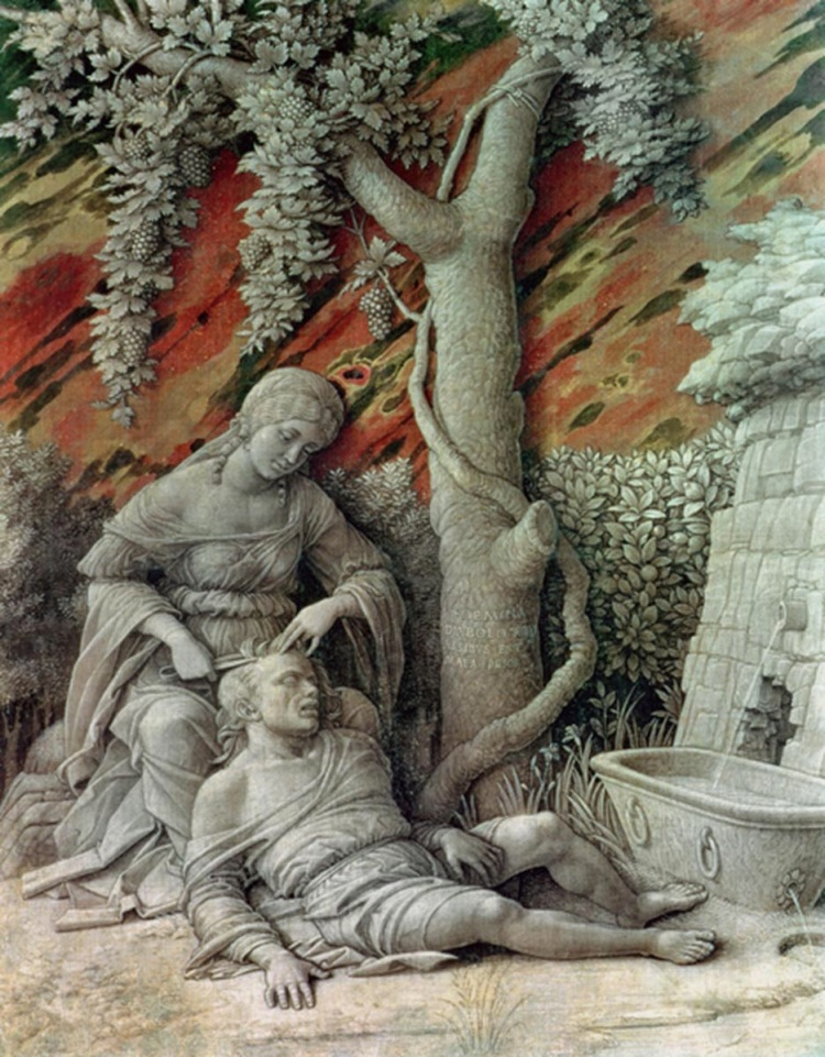 Samson and Delilah by Mantegna, Andrea, 1500.