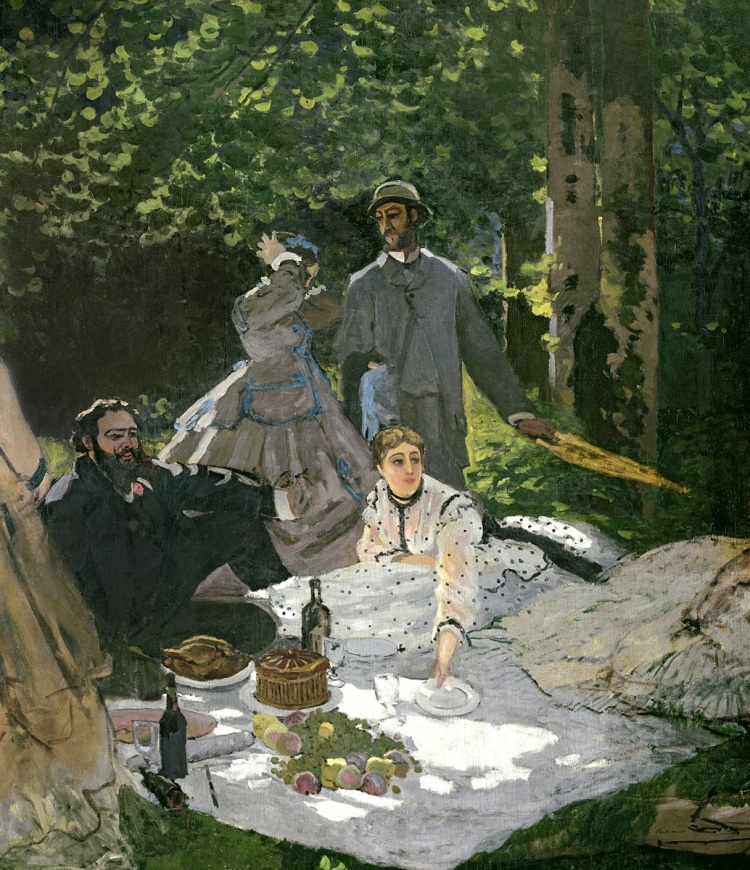 Dejeuner sur l'Herbe, Chailly by Monet, Claude. 1865