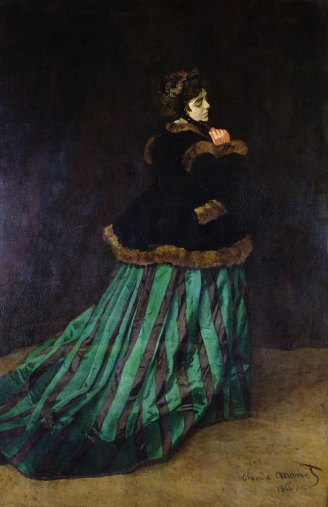 Camille (The Woman in the Green Dress) by Monet, Claude. 1866