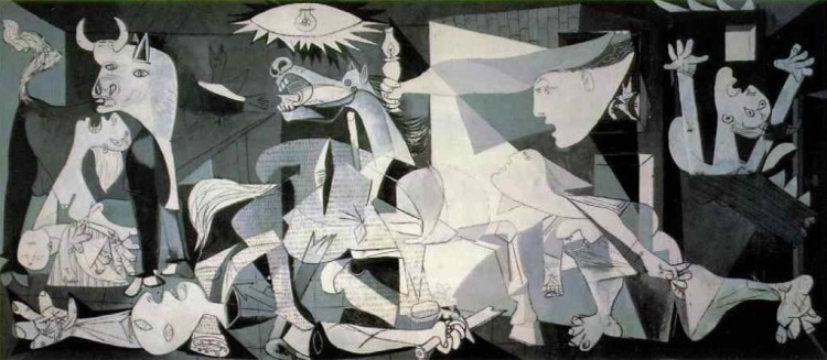 Artist's life and times. Guernica by Picasso.