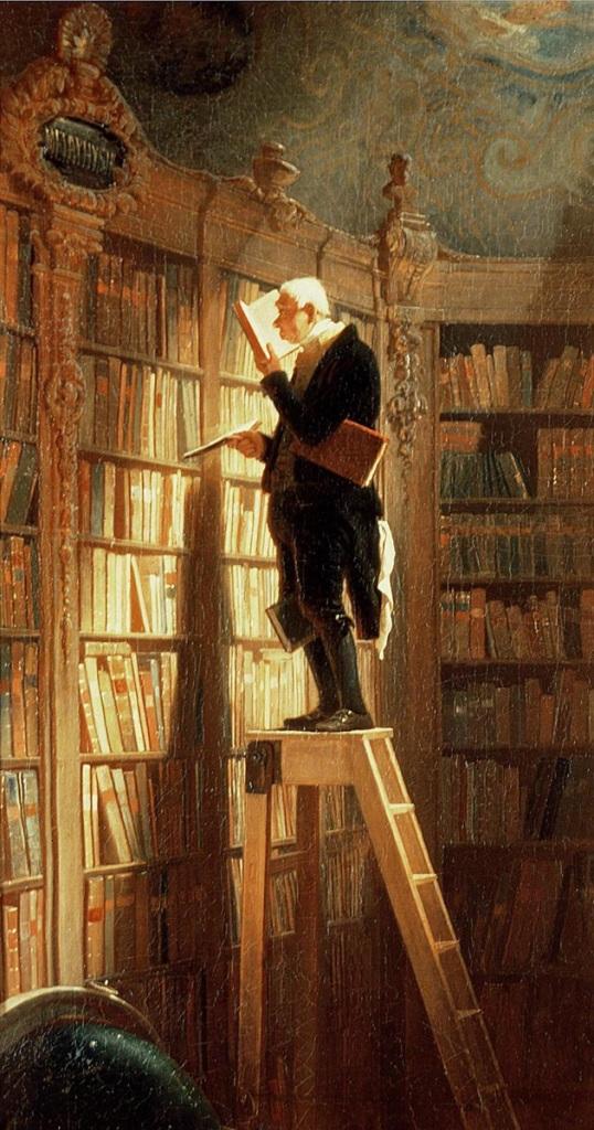 The Bookworm by Spitzweg, Carl 1850