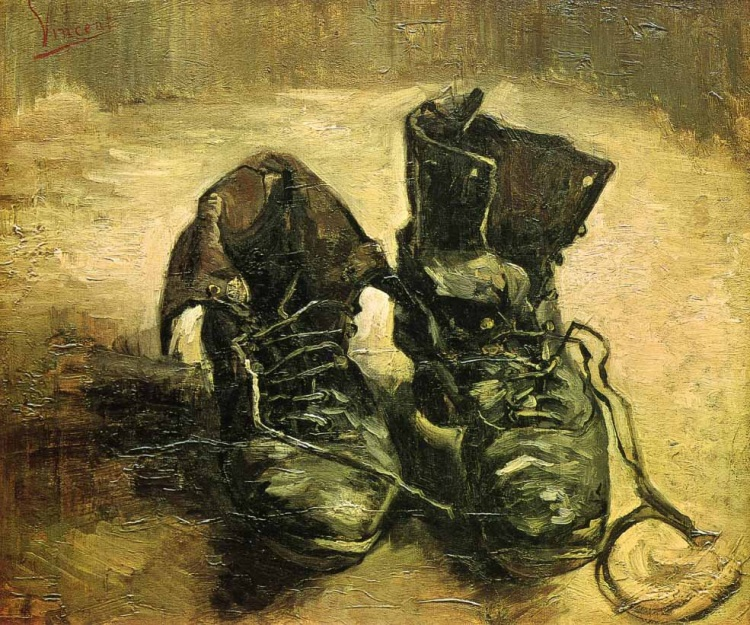 A Pair of Shoes. 1886, by Vincent van Gogh