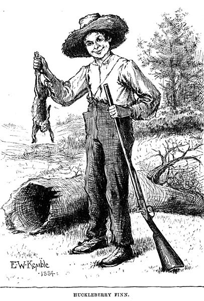 406px-Huckleberry-finn-with-rabbit